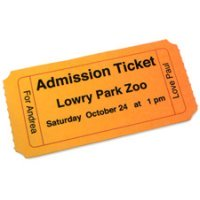 Admission Ticket Printable Craft