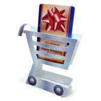 Gift Card Holder Cart Romantic Craft