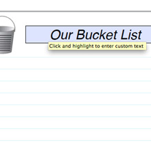 Bucket List text