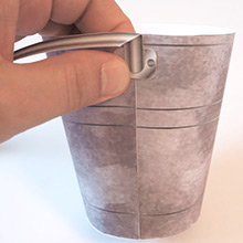 Bucketful attach handle