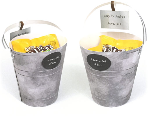 Bucketful Paper Craft Bucket