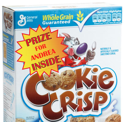 cereal box prize