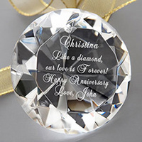 She's A Gem Engraved Diamond Crystal Keepsake