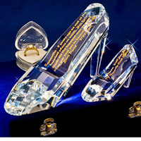 Etched Glass Slipper