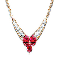 Garnet and Diamond Necklace Enduring Love