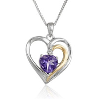 Gemstone Heart Pendant Necklace