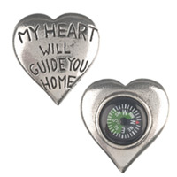 Heart Pocket Compass Deployment Gift