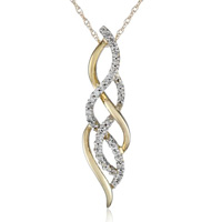 Diamond Infinity Pendant Necklace