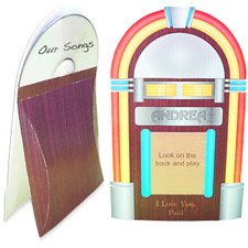 Jukebox CD Printable Holder Case
