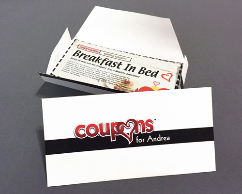 Personalized Love Coupons Envelope