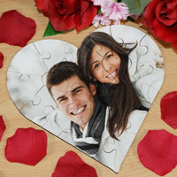 Heart Shaped Photo Puzzle