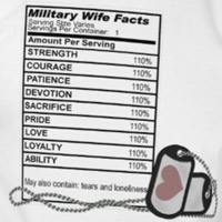 Military Wife Ingredients T Shirt