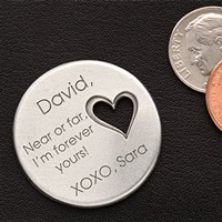 Military Personalized Heart Pocket Token