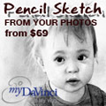 Pencil Sketch Romantic Photo Gift