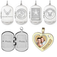 Deployment Gifts 14k Gold or Sterling Silver Lockets