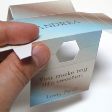 Sweetener Box fold top