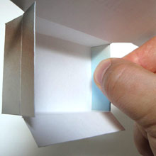 Sweetener Box fold over bottom