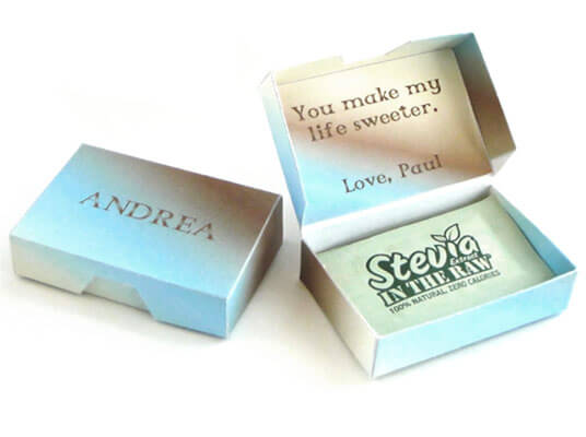 Sweetener Box Personalized Papercraft