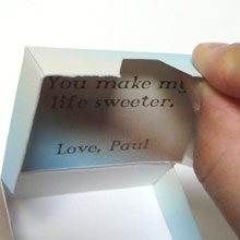 Sweetener Box fold over front