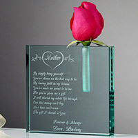 personalized bud vase