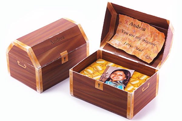 Express how much you treasure your beloved with a treasure chest paper ...