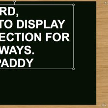 Display of Affection Text Drag