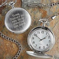 Romantic Deployment Gifts Engraved Pocket Watch