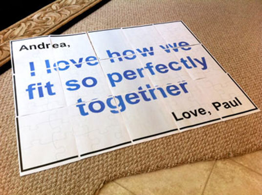 Paper Floor Puzzle Romantic Idea