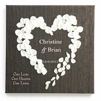 Heart of Roses Wall Art Romantic Personalized Gifts