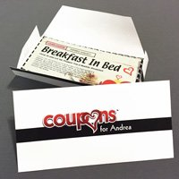 Personalized Love Coupons Envelope Papercraft