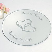 Personalized Round Mirror Inexpensive Romantic Gifts
