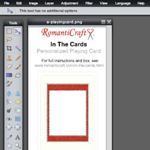Playing Card Template Open