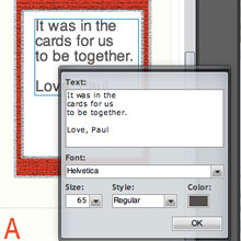 Playing Card Text Box