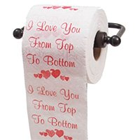 Top To Bottom Toilet Paper Romantic Fun Gifts