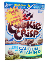 Cereal Box Prize Sample