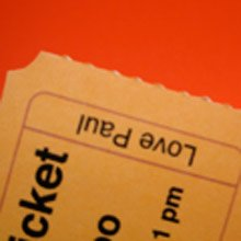 Admission Ticket perforated edges