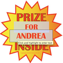 Cereal Box Prize Text