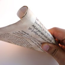 Love Letter Scroll Rollup